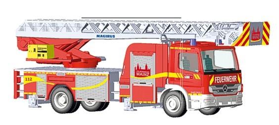 Rietze MB Atego DLK Feuerwehr Mainz