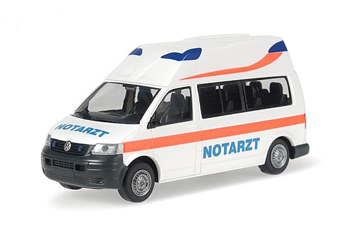 Rietze VW T5 LR mit Hornis-Aufbau Rettmobil 2009 Notarzt