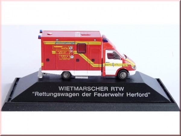 Rietze Einsatz-Serie MB Sprinter 99 RTW Feuerwehr Herford, Restmenge
