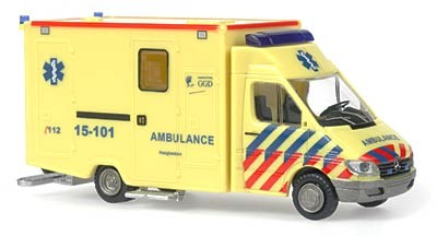 Rietze MB Sprinter RTW Ambulance Den Haag