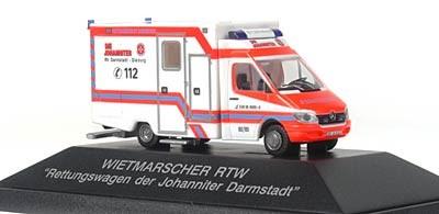 Rietze Einsatz-Serie MB Sprinter RTW JUH Darmstadt-Dieburg