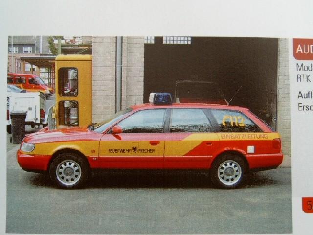 Rietze Einsatz Serie Audi A6 ELW Feuerwehr Frechen -Einzelstück-
