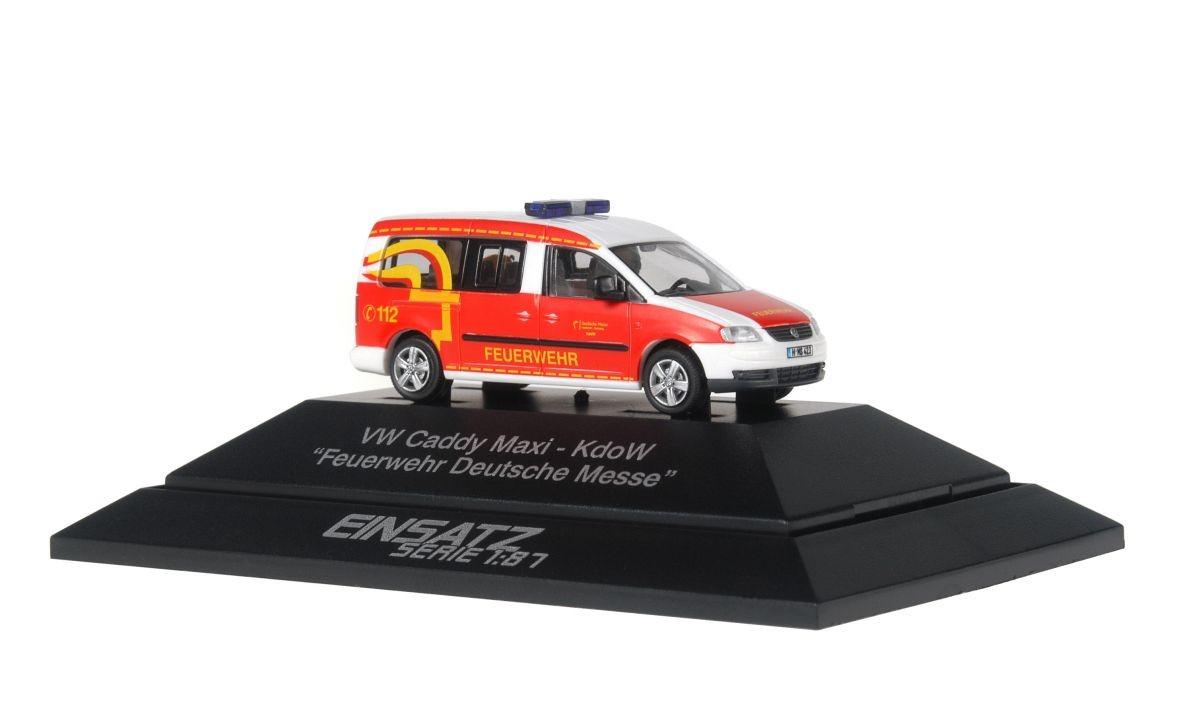 Rietze Einsatz Serie VW Caddy Maxi FW Deutsche Messe Hannover