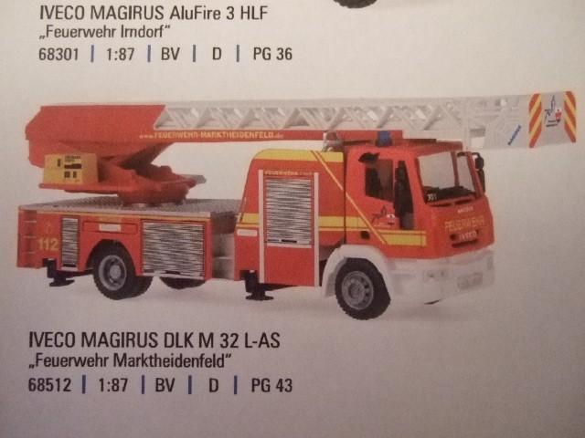 Rietze IVECO DLK M 32 L-AS Feuerwehr Marktheidenfeld