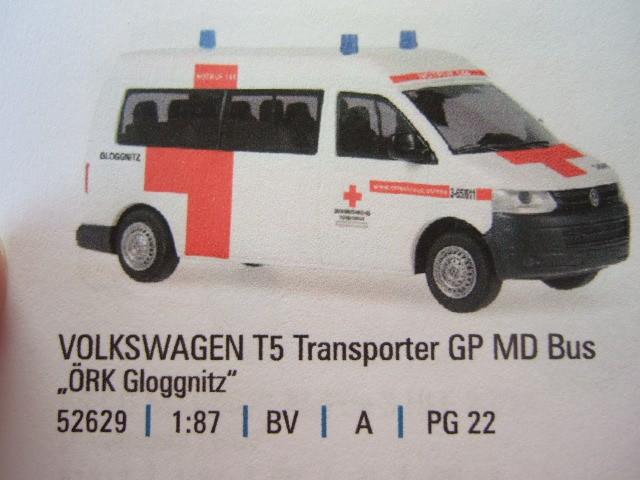 Rietze VW T5 GP MD ÖRK Gloggnitz(A) -Einzelstück-