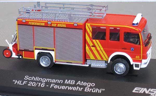 Rietze-Einsatz Serie MB Atego 04 HLF 20/16 Feuerwehr Brühl