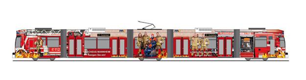 """Rietze DUEWAG 6MGT """" RNV Feuerwehr Mannheim """", NH 11-12/20,(Vorbestellung / Modell noch nicht lieferbar !!!)"""