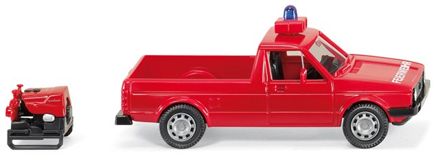 Wiking VW Caddy 1 Pritsche Feuerwehr mit TS