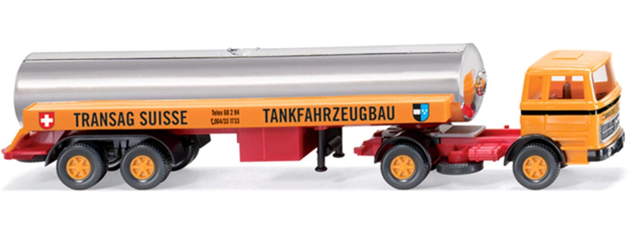 Wiking MB 1620 Flüssiggas-Sattelzug TRANSAG SUISSE -Einzelstück-