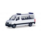 Herpa Minikit: Mercedes-Benz Sprinter 13 Bus FD mit Blaulichtbalken in weiß