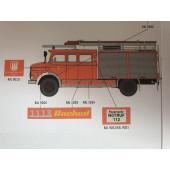Brekina MB LAF 1113 TLF 16/25 Feuerwehr Hamburg Barmbek (BF), Vorbestellung / Modell noch nicht lieferbar !!!
