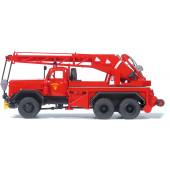 Preiser Kranwagen KW 16, Feuerwehr. F Magirus 250 D 25 A. Bausatz