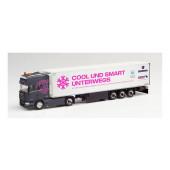"""Herpa Scania R 13 TL Kühlkoffer-Sattelzug """"Trucker-Babe Christina Scheib"""" Bayern/Gmund am Tegernsee)"""