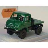 Brekina MB Unimog 411 mit Arbeitsplattform, grün (Einzelstück)