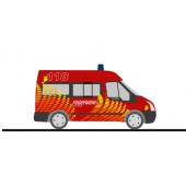 """Rietze Ford Transit`06 """" Feuerwehr Würenlingen (CH) """", NH 11-12/20,(Vorbestellung/Modell noch nicht lieferbar !!!)"""