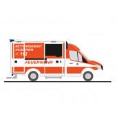 Rietze MB Sprinter RTW Feuerwehr Hildesheim (BF), NH 07-08/19,(Vorbestellung / Modell noch nicht lieferbar !!!)