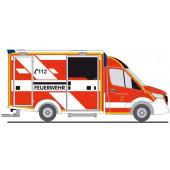 """Rietze MB Sprinter WAS RTW """" Feuerwehr Trier """", NH 01-02/21"""