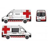 "Herpa - Mercedes-Benz Sprinter `13 Kasten ""Rode Kruis Vlaanderen - Ambulance, Belgien"" BE"