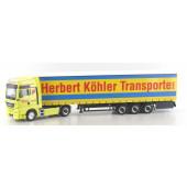 "Herpa MAN TGX XXL Gardinenplanen-Sattelzug ""Herbert Köhler"""