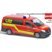 Busch MB Vito MTF Feuerwehr Dortmund ( Sondermodell Intermodellbau 2020)